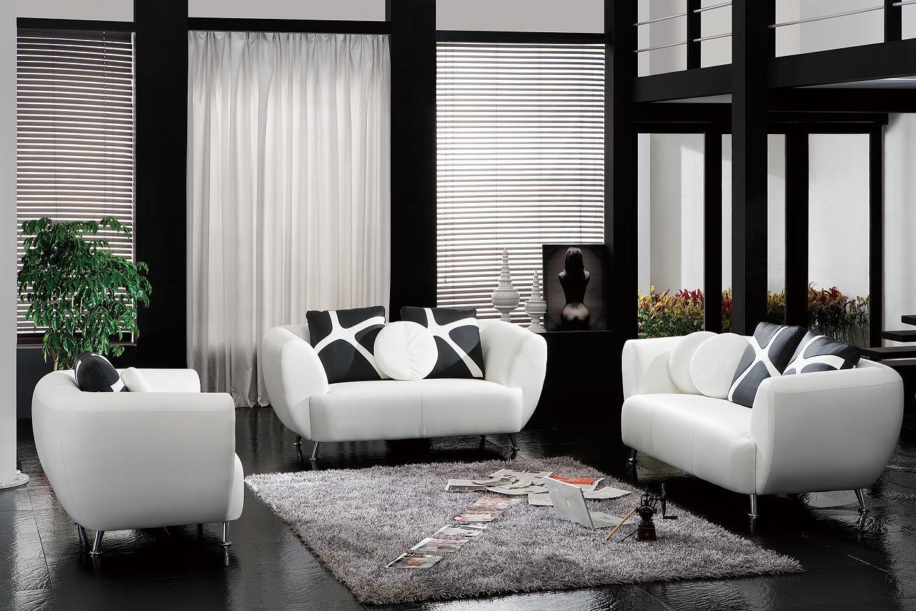 2946 white bonded leather sofa set nova interiors rh novainterior com