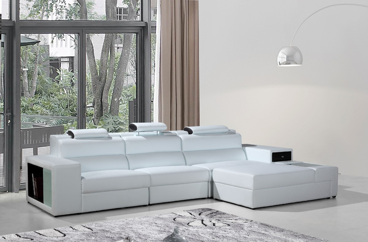 5022 B leather sectional