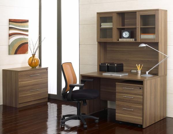 """47"""" Desk w/ Pedestal/Hutch"""