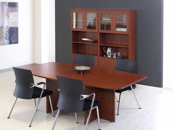 "84"" Conference Table Shown with Double 72"" Bookcase"