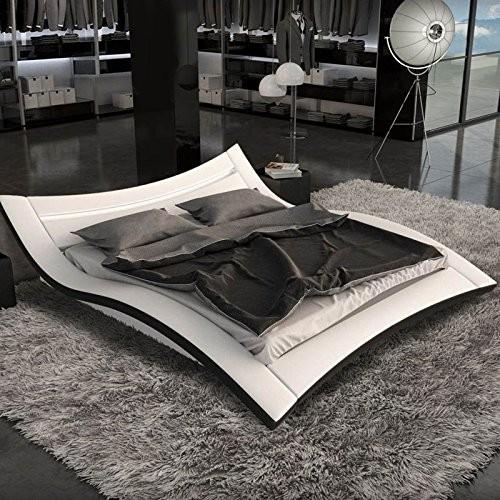 Wave Bed| Modern leather bed | J226