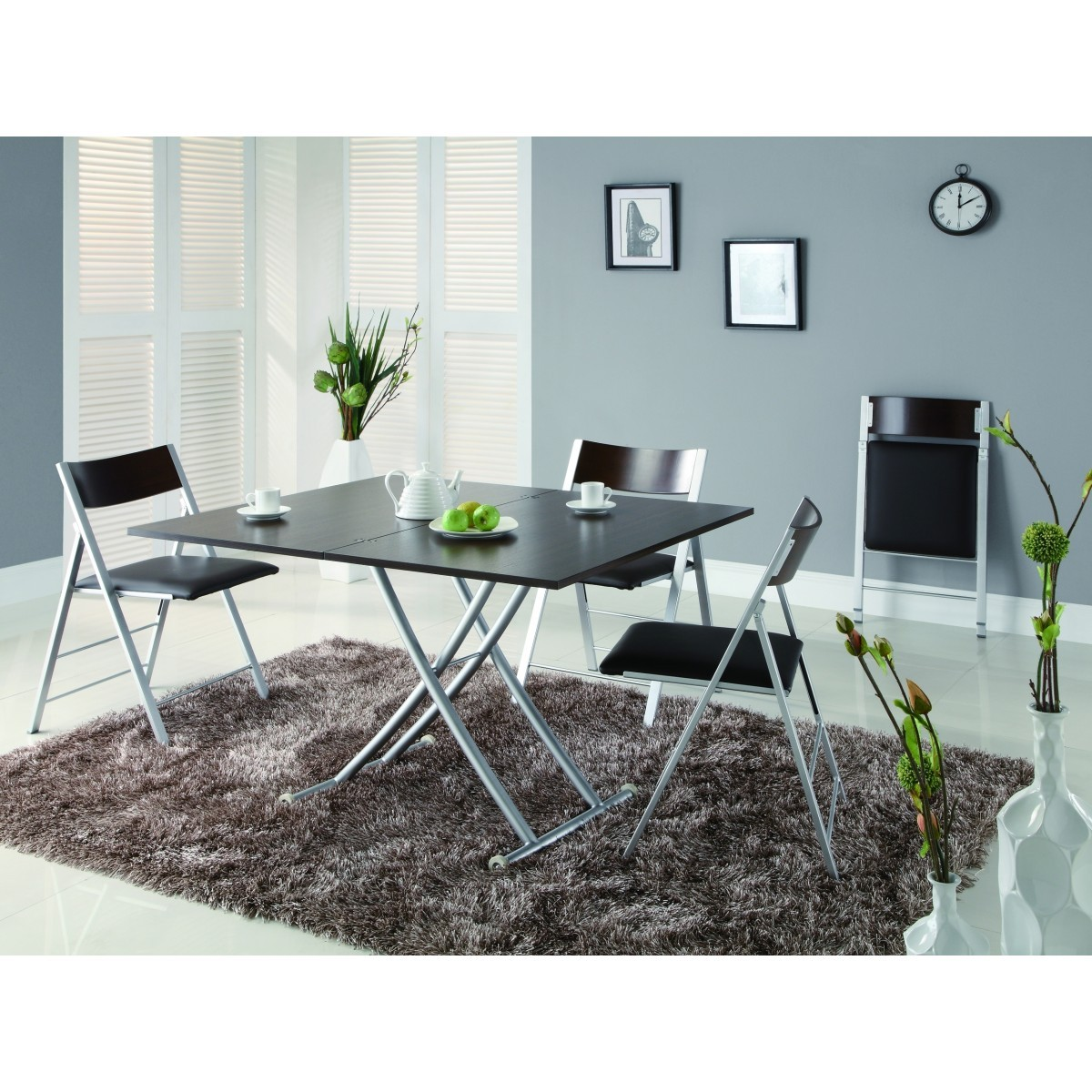 Aspen Dining Set (Espresso Table+4 chairs)
