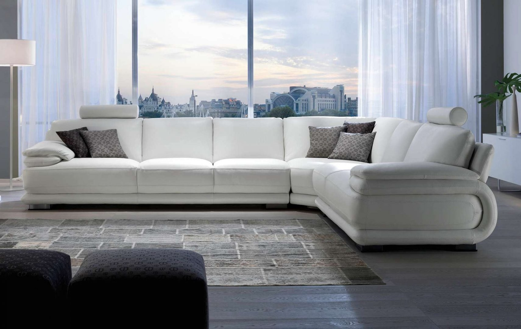 Fantastic Atlantic Leather Sectional By Chateau Dax Italia Available Caraccident5 Cool Chair Designs And Ideas Caraccident5Info