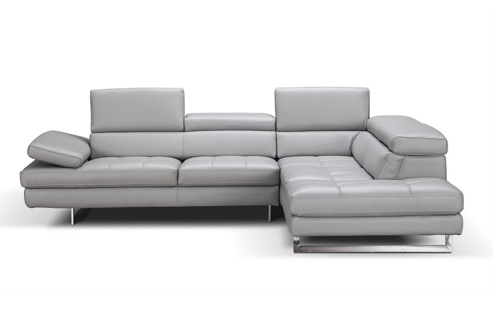 Aurora Premium Leather Sectional By J Amp M Buy From Nova