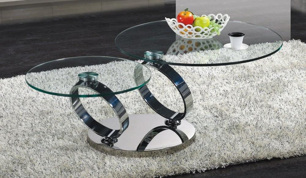 C205 glass coffee table
