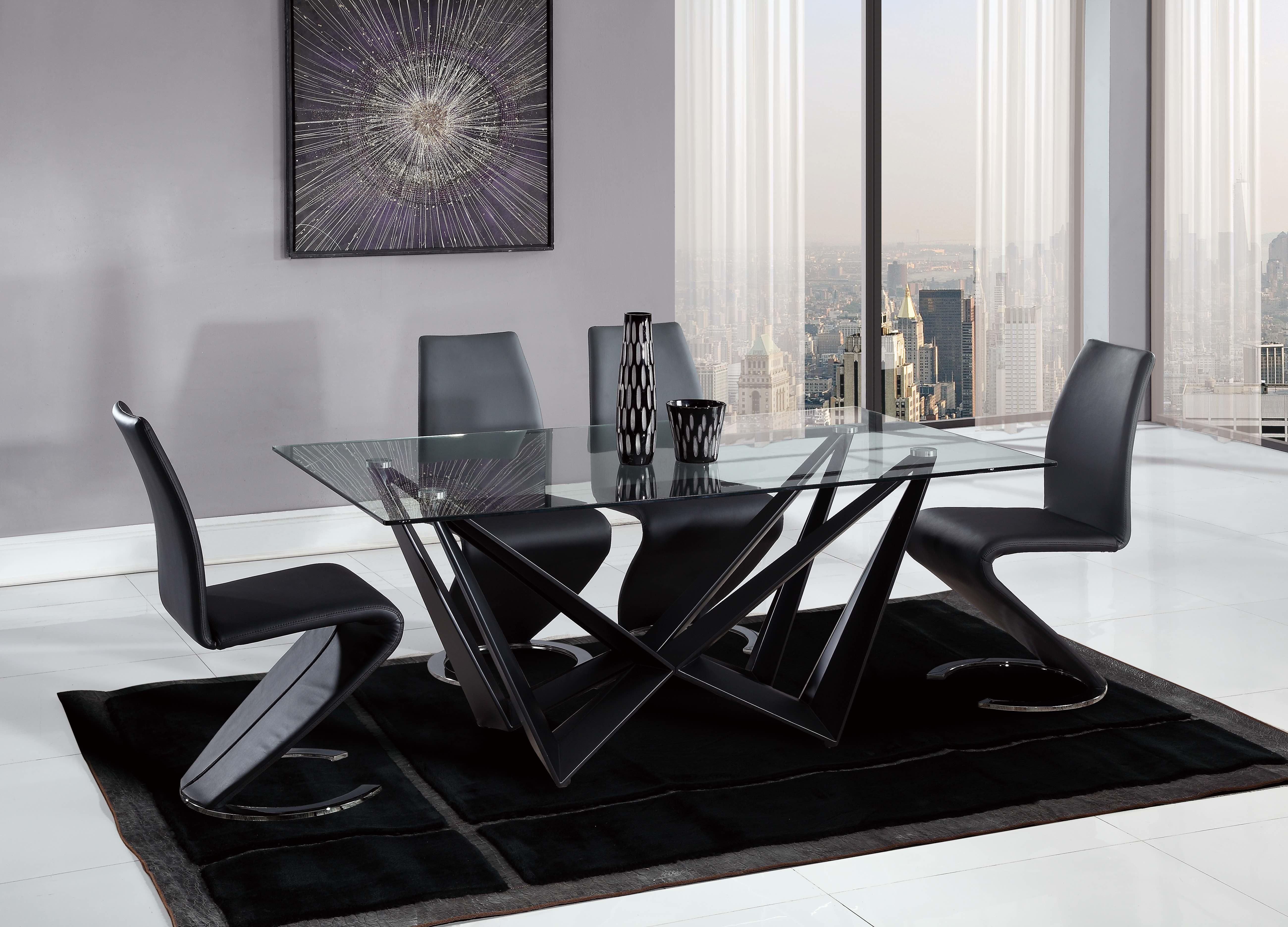 D2003 Modern Glass Dinning Room Set