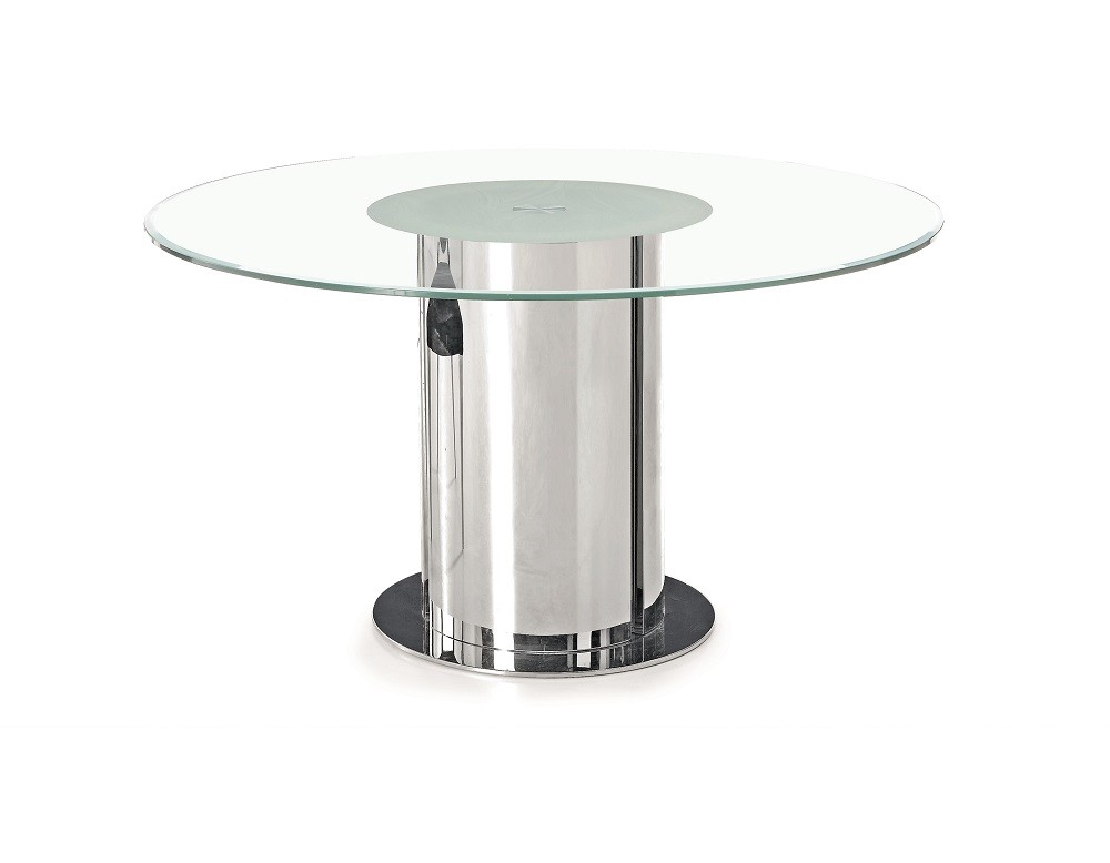 D206 Modern round glass Dining Table