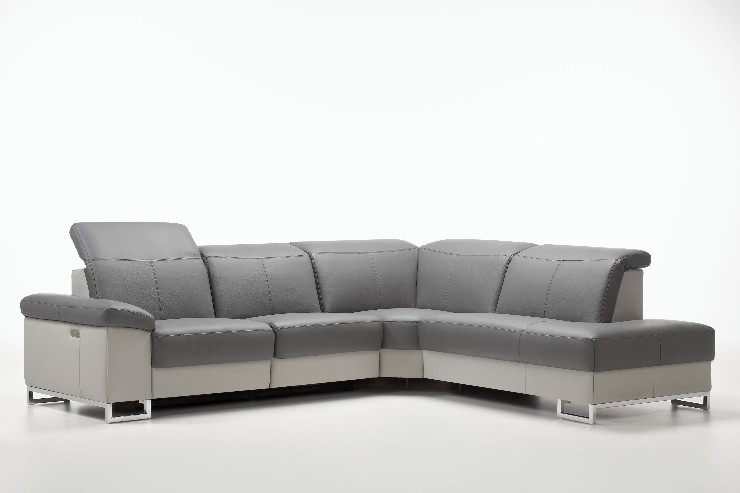 Deimos I Leather Sectional | Rom | Made in Belgium