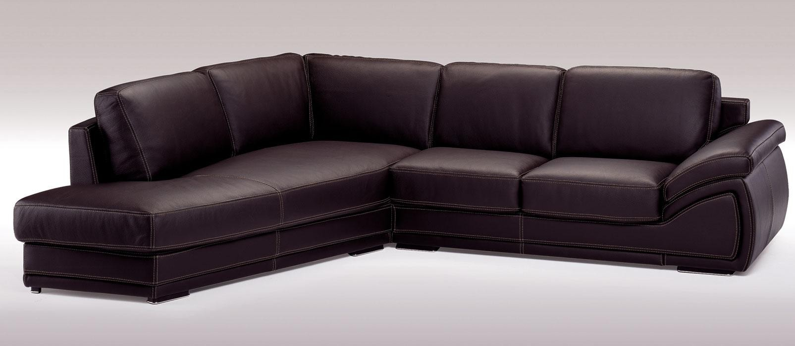 Holiday Espresso Italian Leather Sectional Sofa Buy From
