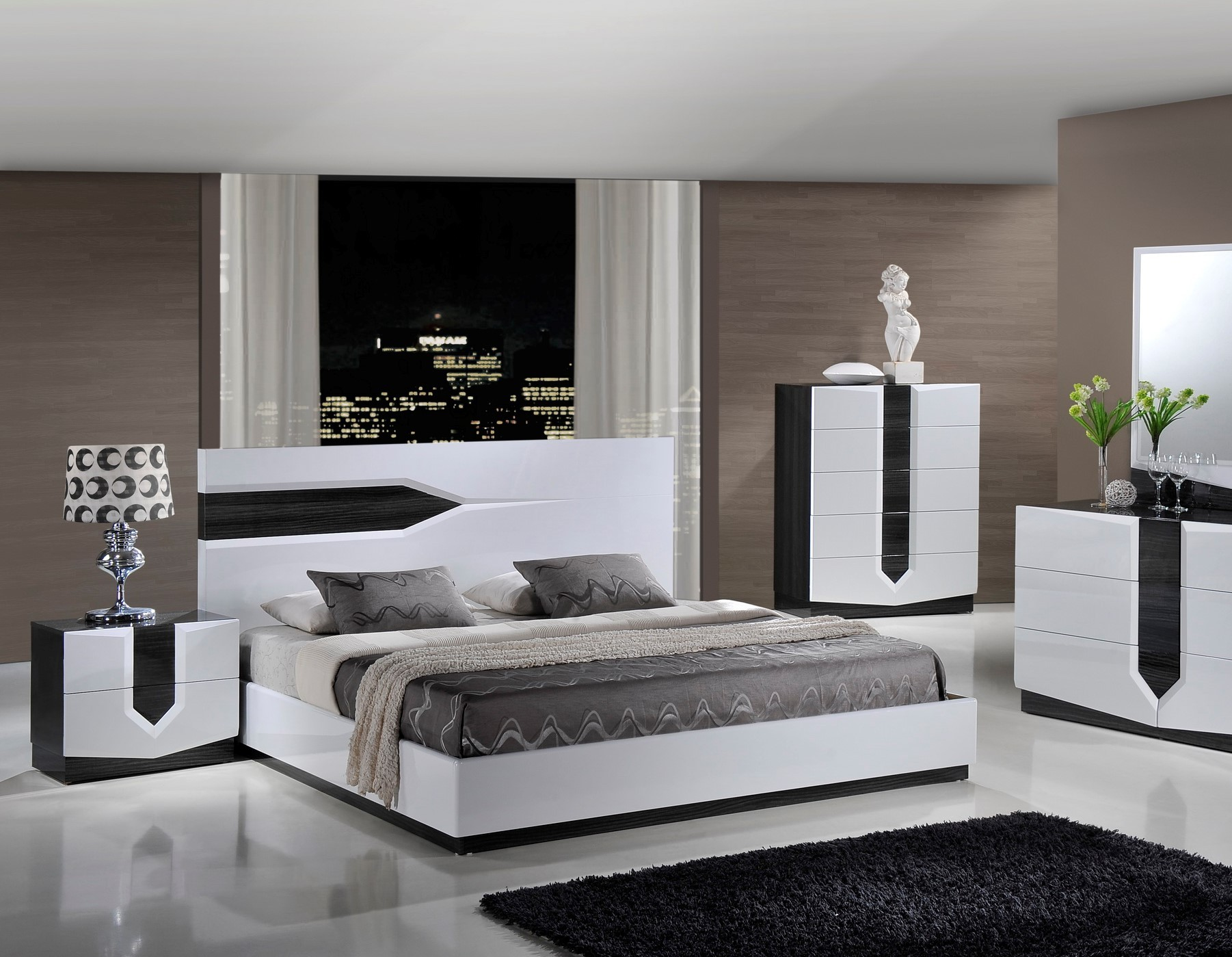 Hudson Contemporary Platform Bed by Global
