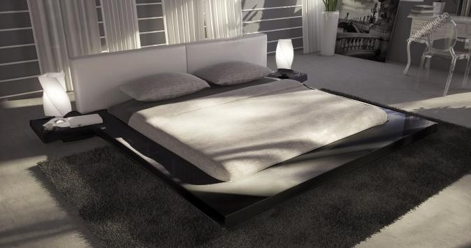 Opal Black Gloss Japanese Style Platform Bed Buy From