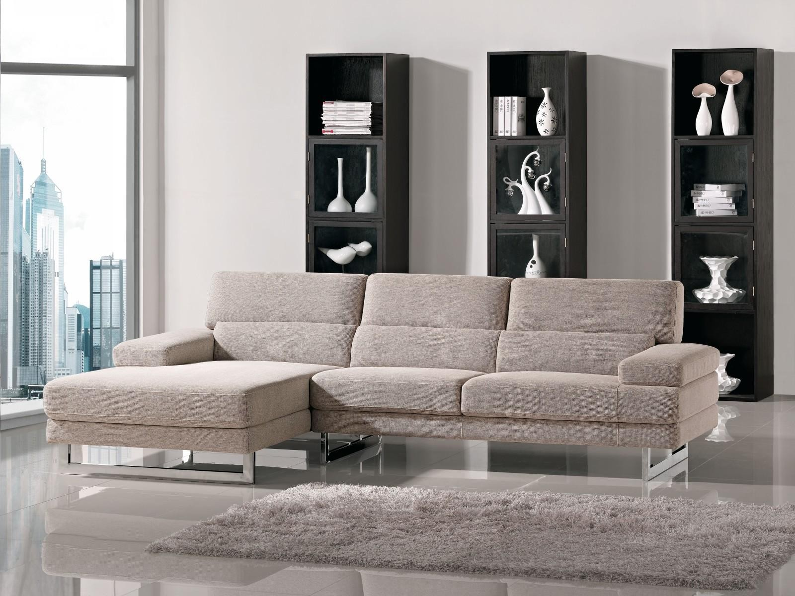 Best modern furniture stores in massachusetts - Beige L Shape Fabric Sectional Sofa