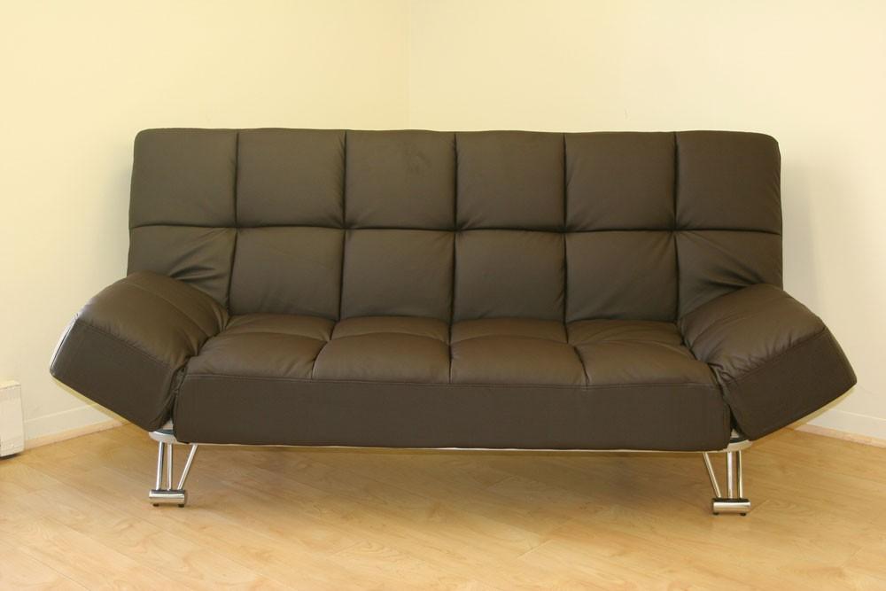 Venus Chocolate Leatherette Sofa Bed Nova Interiors