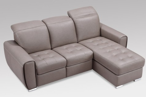 kristina contemporary leather sectional by w schillig at. Black Bedroom Furniture Sets. Home Design Ideas