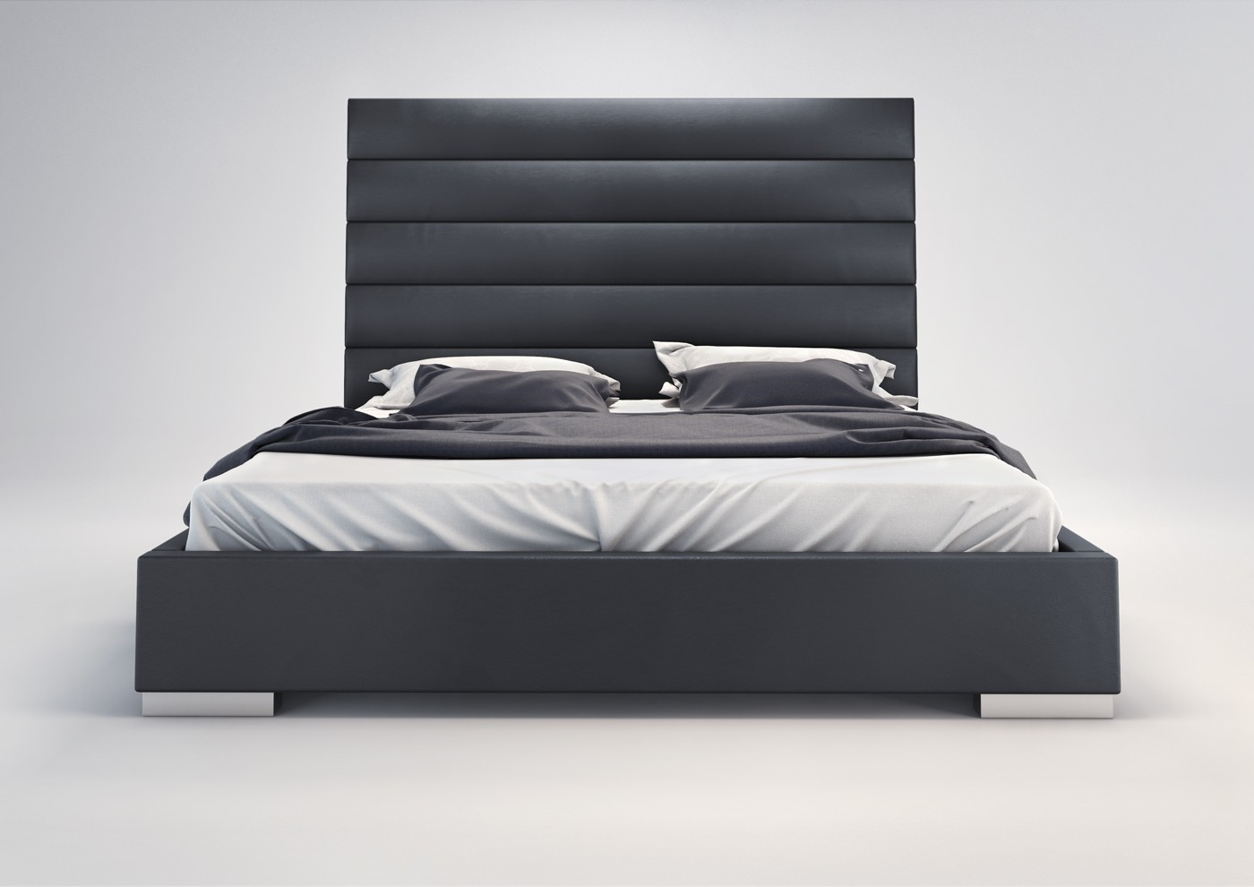 prince modern leather bed by modloft nova interiors - prince modern leather bed by modloft