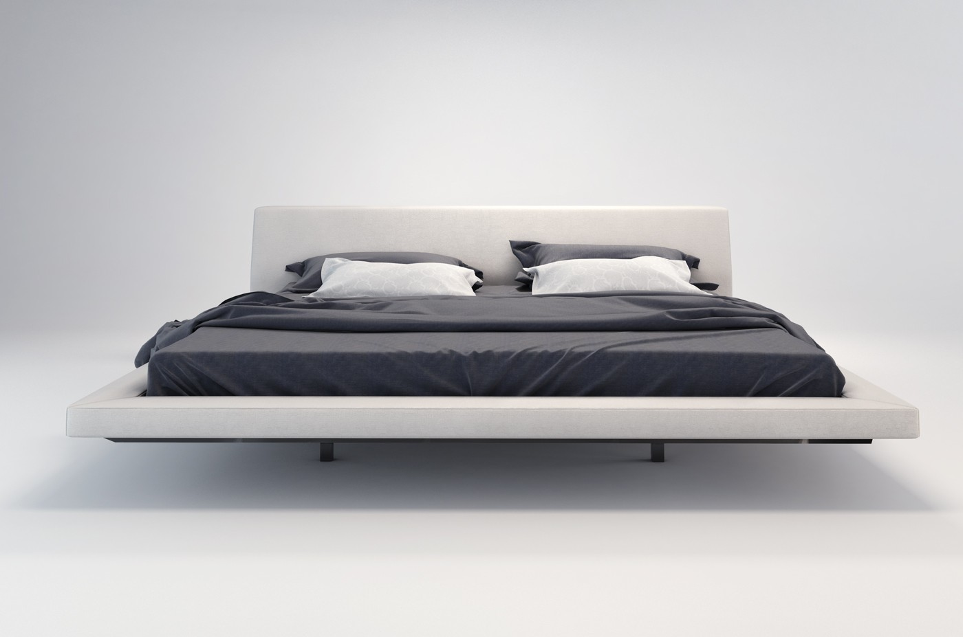 Jane modern fabric bed By MODLOFT