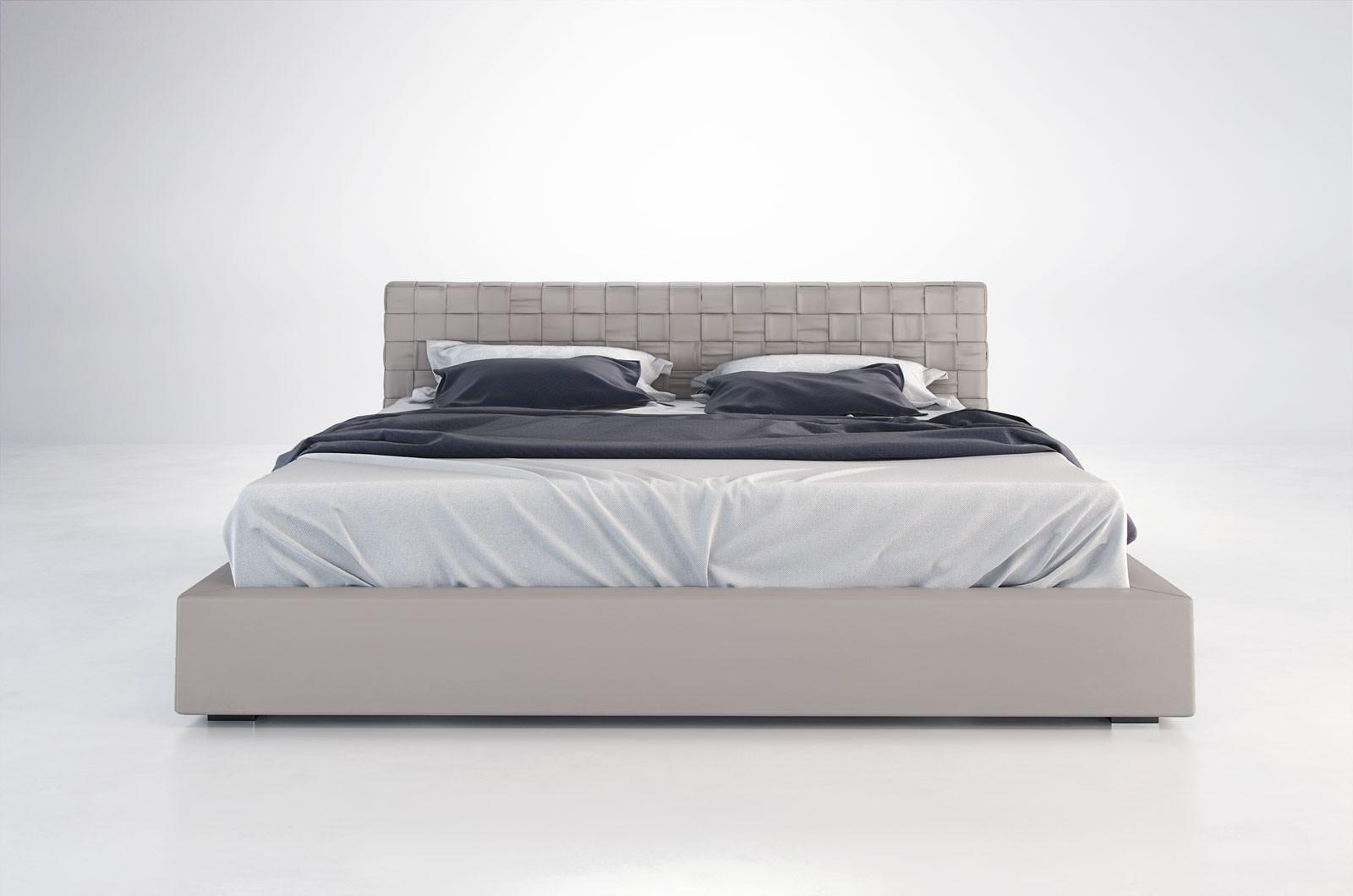 Madison modern leather bed by MODLOFT