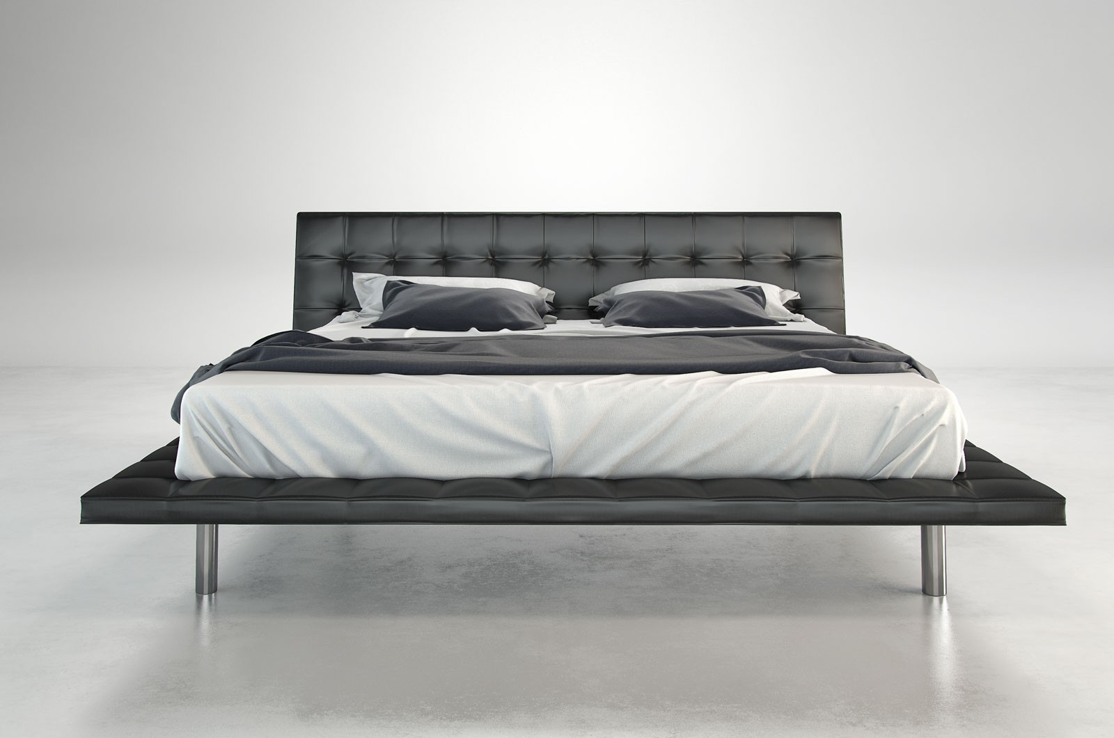 Howard modern leather bed by Modloft