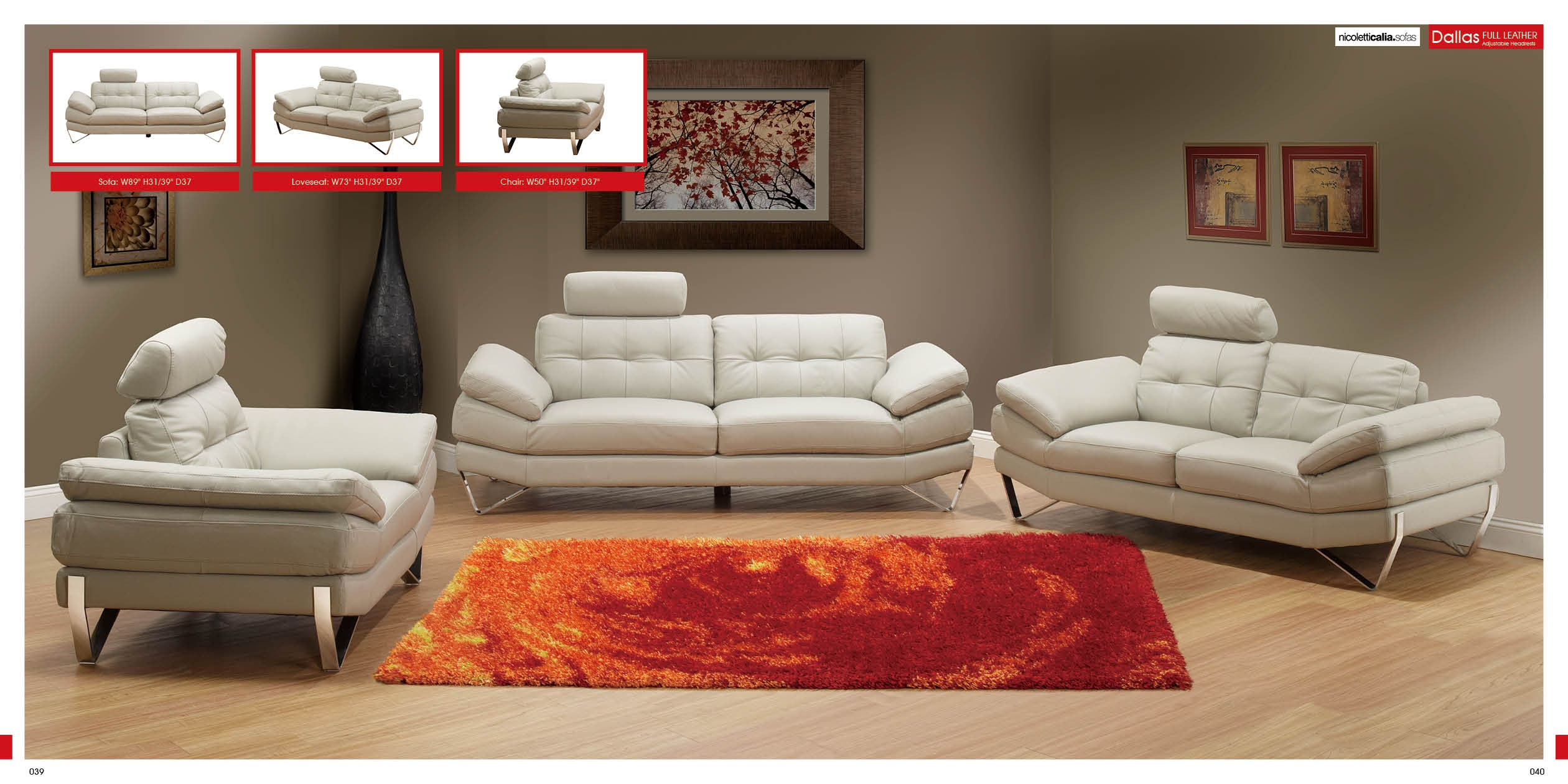 Charming Dallas Sofa Set By Nicoletti