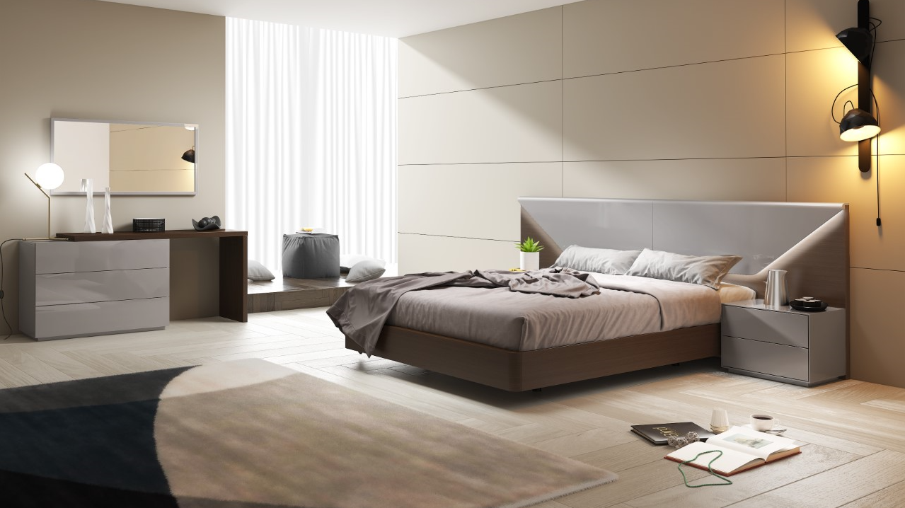 Marchena Grey Lacquer Bed