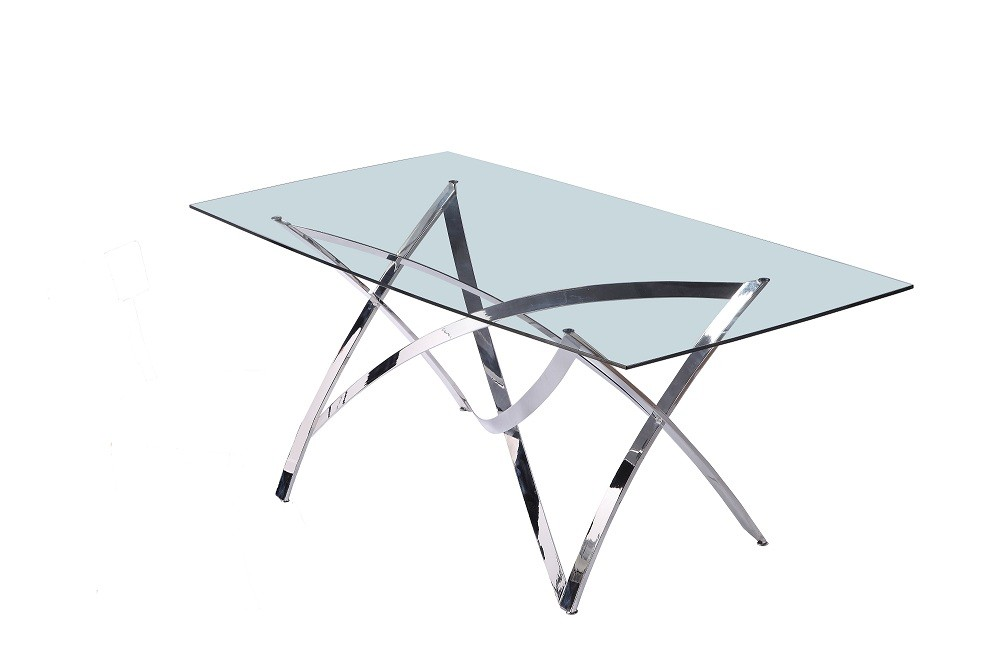 Medusa contemporary glass dining table