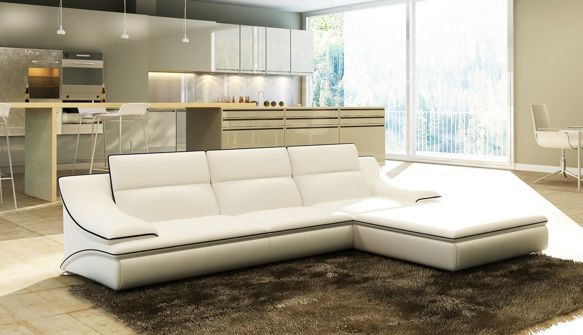 5076 leather sectional