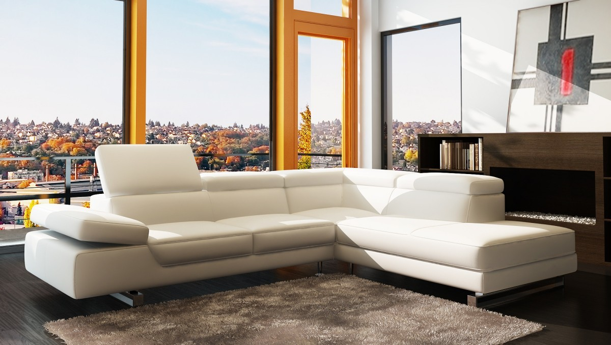 Omega Premium leather sectional | Italian Leather | Levante