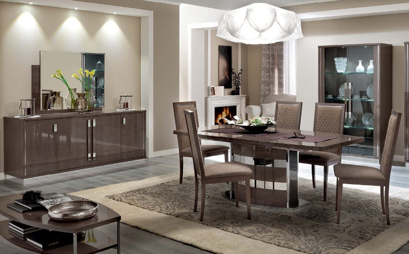 Platinum Slim Dining Room | Made In Italy