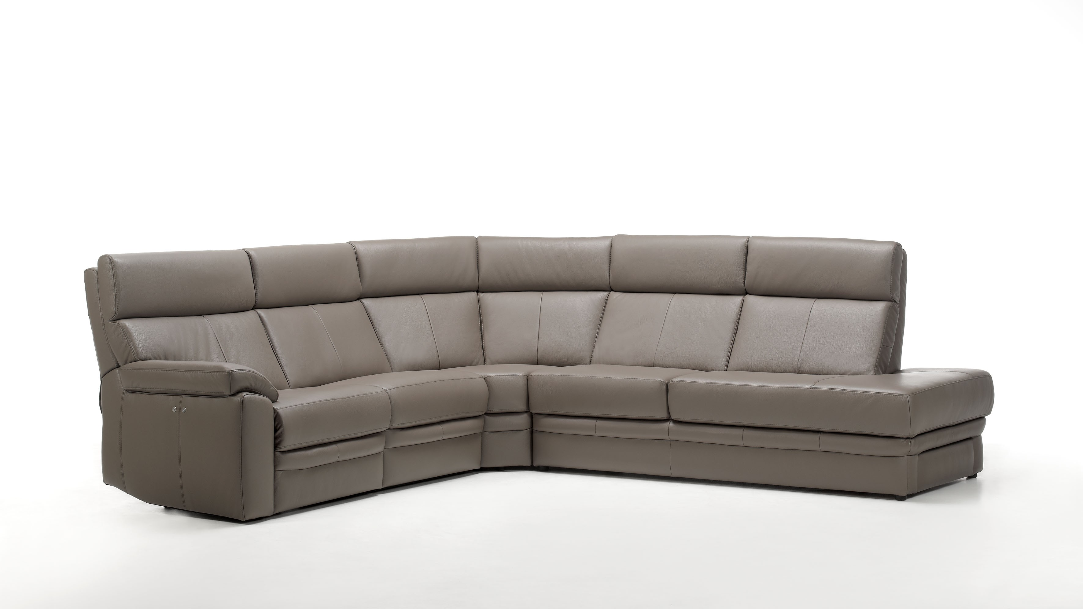 Salvo I Leather Sectional | Rom | Made in Belgium