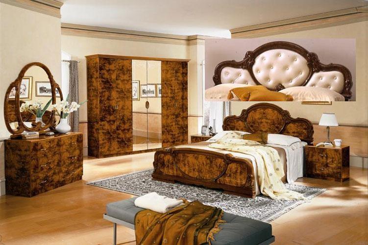 Serena Walnut Traditional Italian Bed