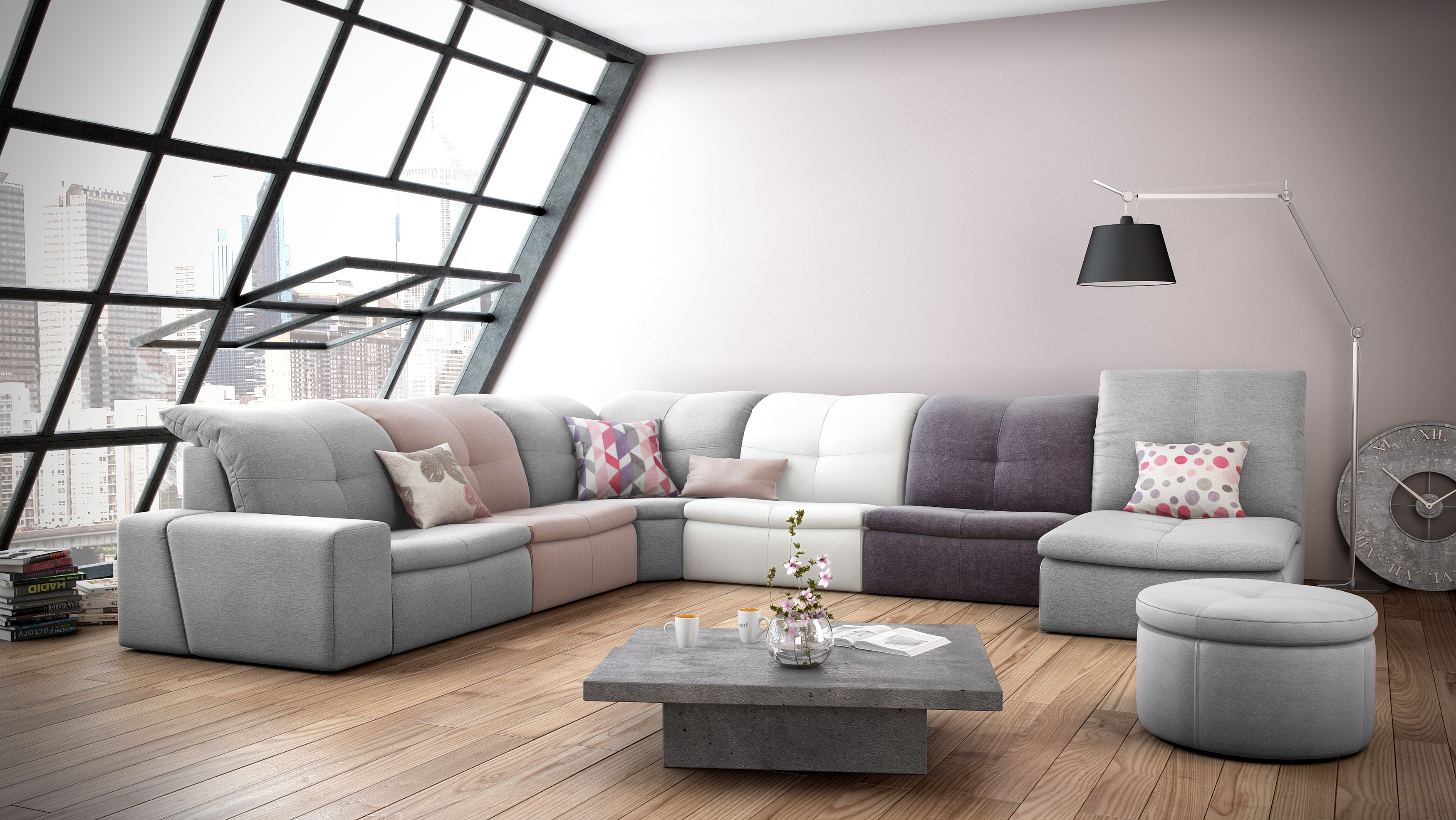 Smile Leather Sectional | Rom | Made In Belgium