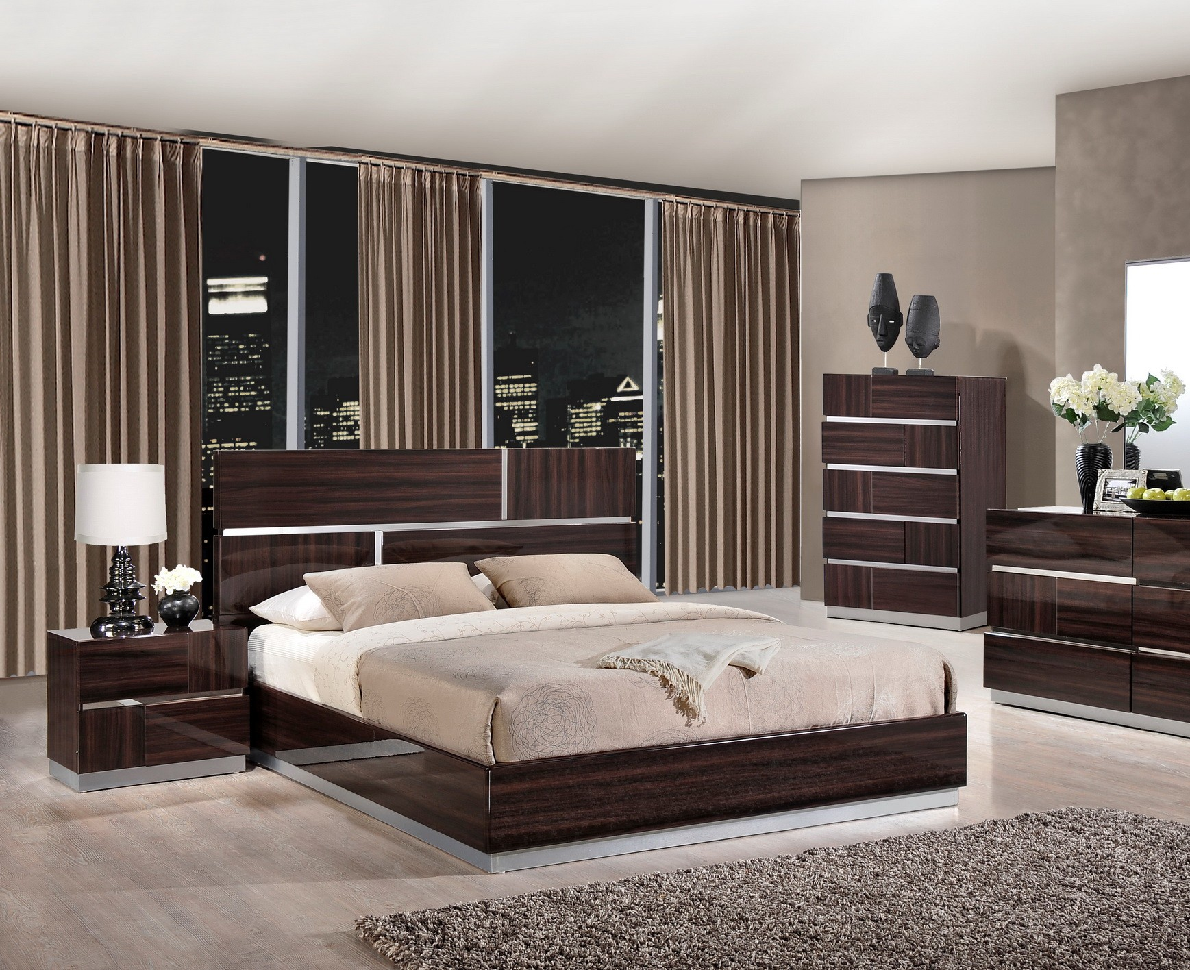 Tribeca Modern Platform Bed by Global USA