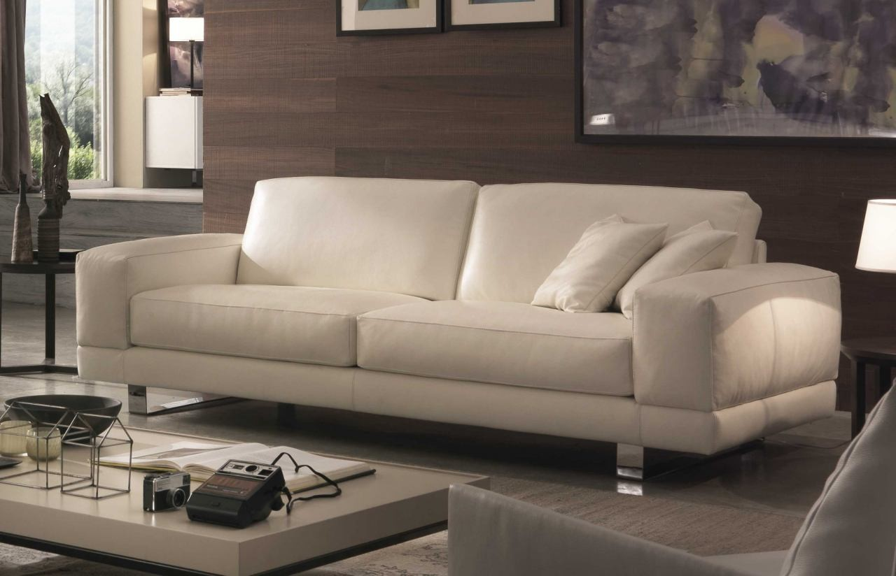 U177 premium italian leather sofa and loveseat by chateau - Divano philip art nova ...