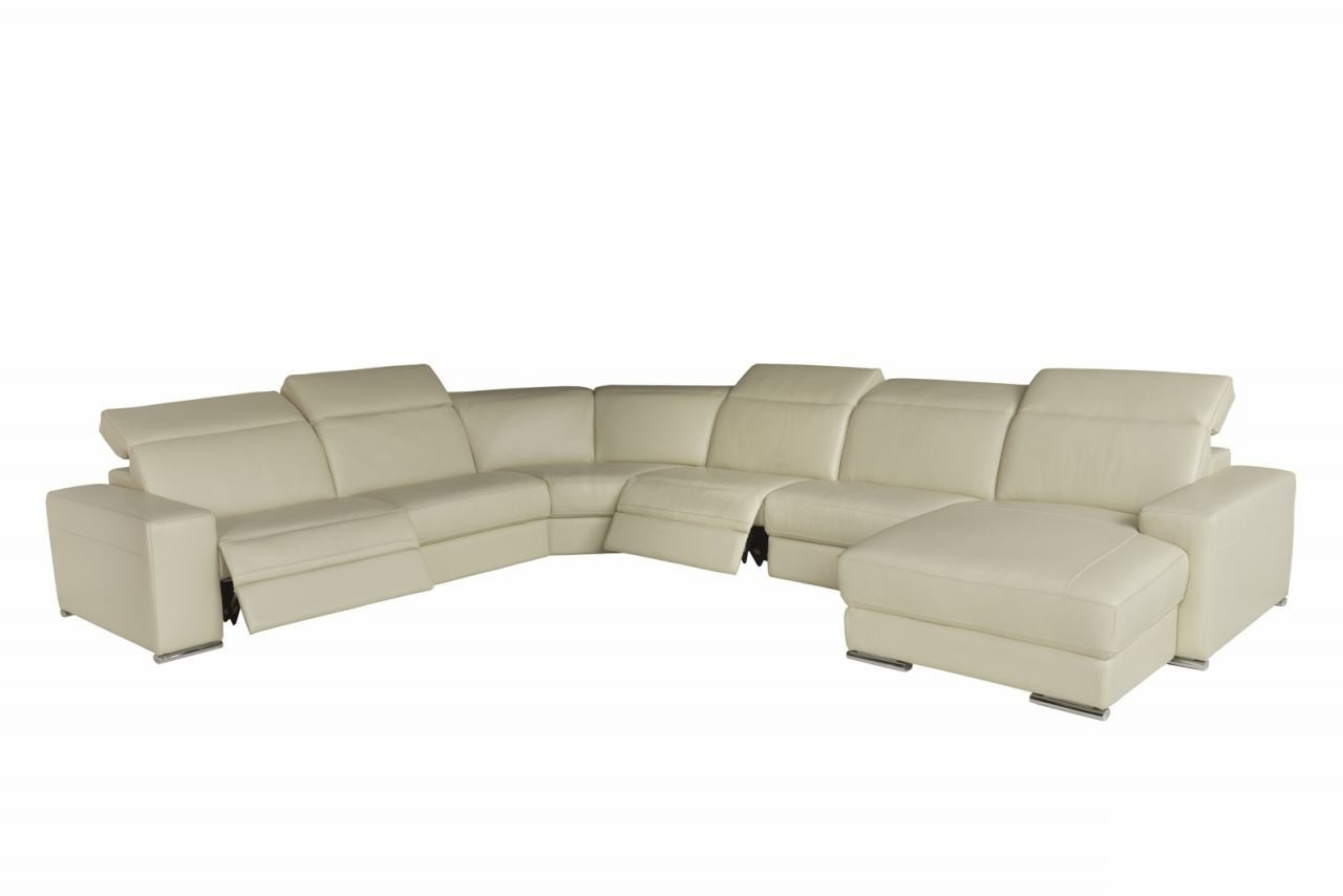 U27 E Modern Leather Sectional By Chateau D Ax Available At Nova  # Meuble Tv Chateau D Ax