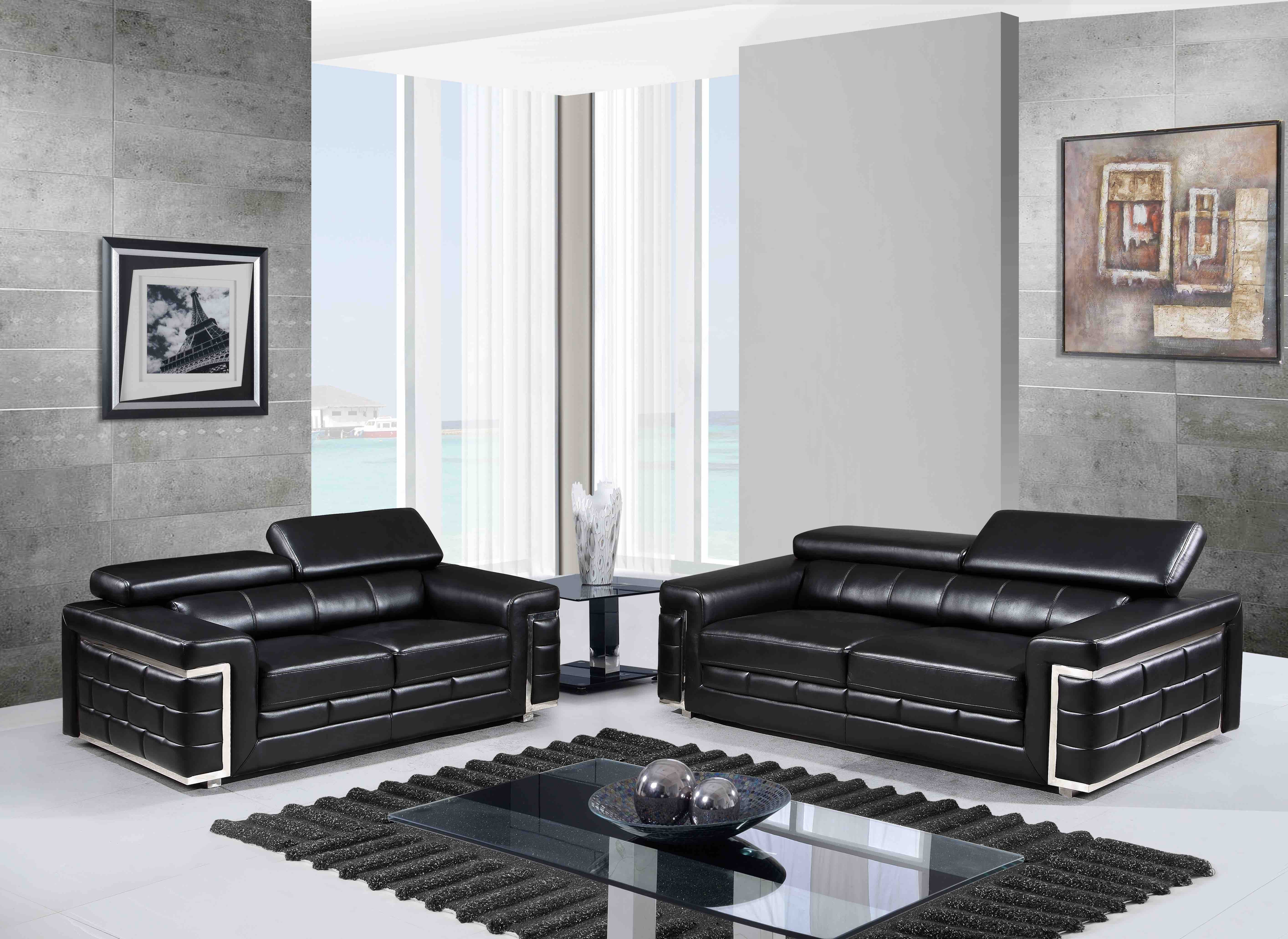 7940 Modern Leather Sofa By Global USA