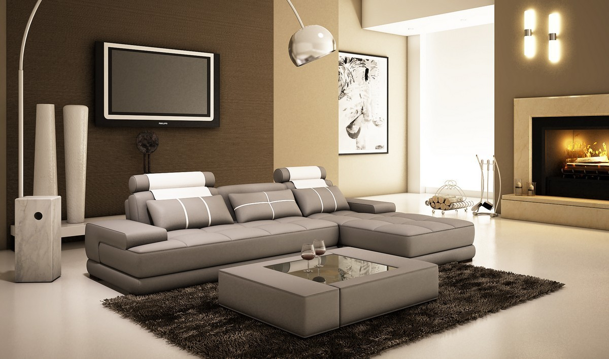 5005A Phantom Mini Leather Sectional