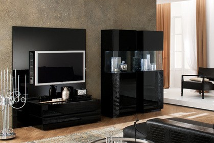 Rossetto USA Nightfly Curio Cabinet Black