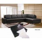 Block Leather Sofa Dark Chocolate