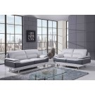 7330 Modern Leather Sofa By Global USA