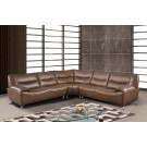 7532 Modern Leather Sectional By Global USA