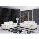 7660 Modern Leather Sofa By Global USA