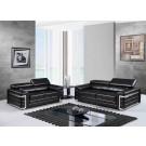 7940 Modern Leather Sofa By Global USA
