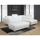 8859 Modern Leather Sectional By Global USA