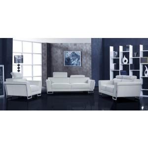 Grace - White Sofa Set