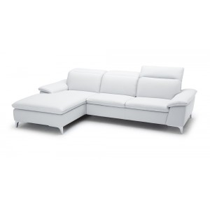 1911 Leather Sectional White, Taupe