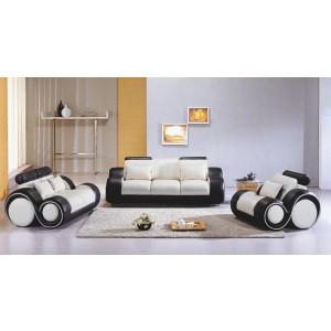4088 Contemporary Black and White Sofa Set