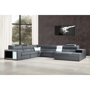 5022  leather sectional