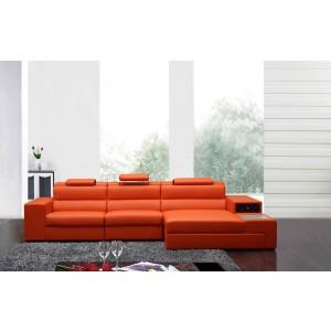 5022 B leather sectional Orange