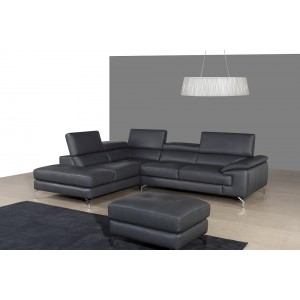 A973 Premium Leather Sectional by J&M