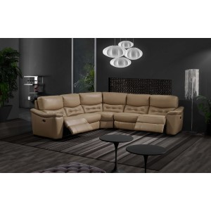 Abigale Sectional with 2 Power Recliners